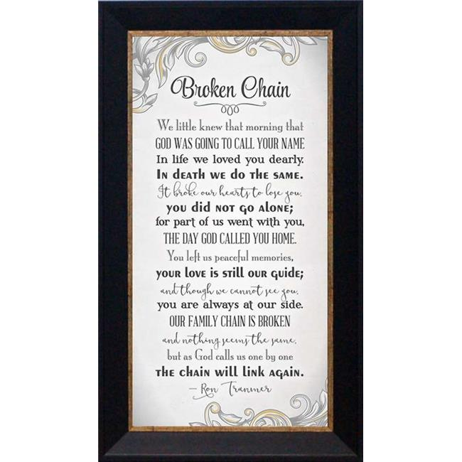 Broken Chain Framed Print with Photo
