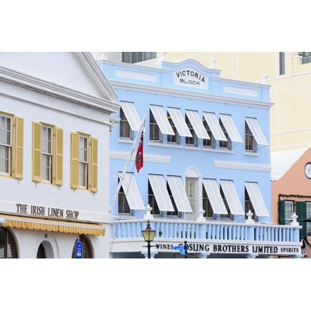 Victoria Block on Front Street in Hamilton City, Pembroke Parish, Bermuda, Central America Print Wall Art By Richard Cummins (Party City Pembroke Pines)