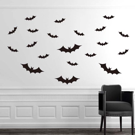 DIY PVC Bat Wall Sticker Decal Home Halloween Decoration](Home Diy Halloween)