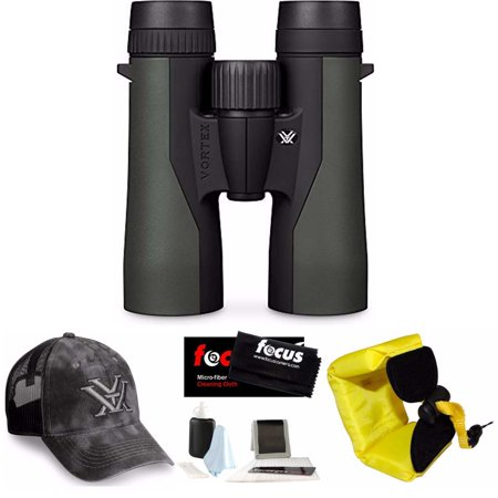 Vortex 10x42mm Crossfire Binocular with Red Foam Strap and Cleaning and Care - Vortex Body Kit
