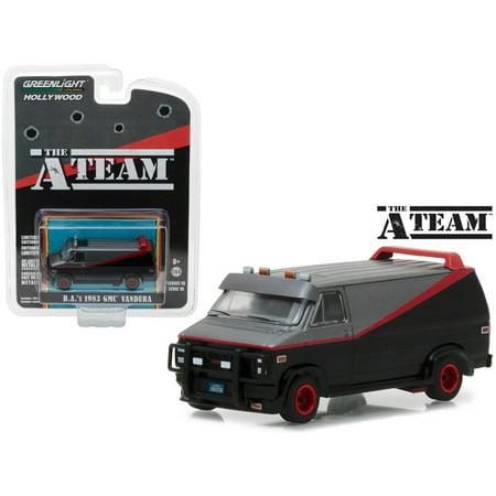 B.A's 1983 GMC Vandura The A Team (1983-1987 TV Series) Hollywood Series 19 1/64 Diecast Model Car by Greenlight