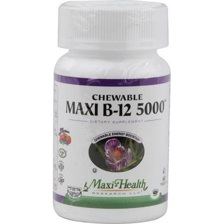 Maxi Health Kosher Vitamins Maxi B12 5000 - Croquer - 60 comprimés