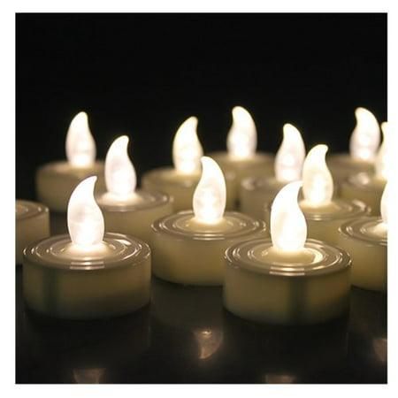 AGPtek Lot 24 Battery LED Tea Light Candle with Timer Warm White](Led Tea Lights)