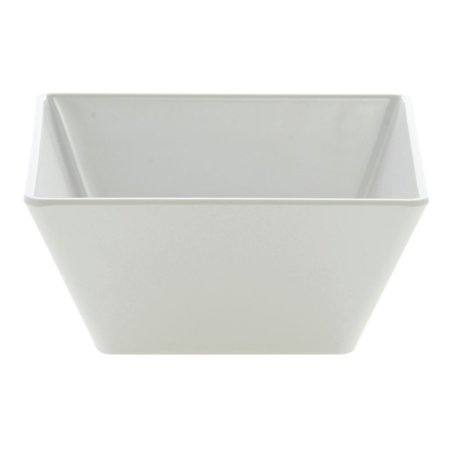 "Square Servinn Bowl White Melamine Bowl 9 1/2 L x 9 1/2 W x 4"" H"