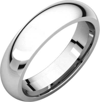 Platinum 5mm Comfort Fit Band Ir7.5 / Platinum / 05.00 Mm / Comfort Fit Band