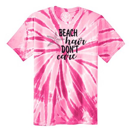 Beach Hair Don't Care Starfish Vacation Tie Dye Mens and Womens Tee Shirt