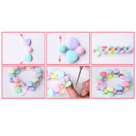 Educational Toy Colorful Acrylic Beads DIY Children Beaded Toys Handmade Beaded for Kids Color:Crystal heart - image 2 of 6