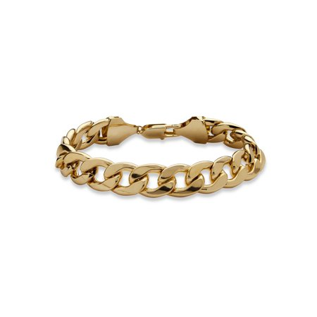 Men's Curb-Link Chain Bracelet in Yellow Gold Tone 11