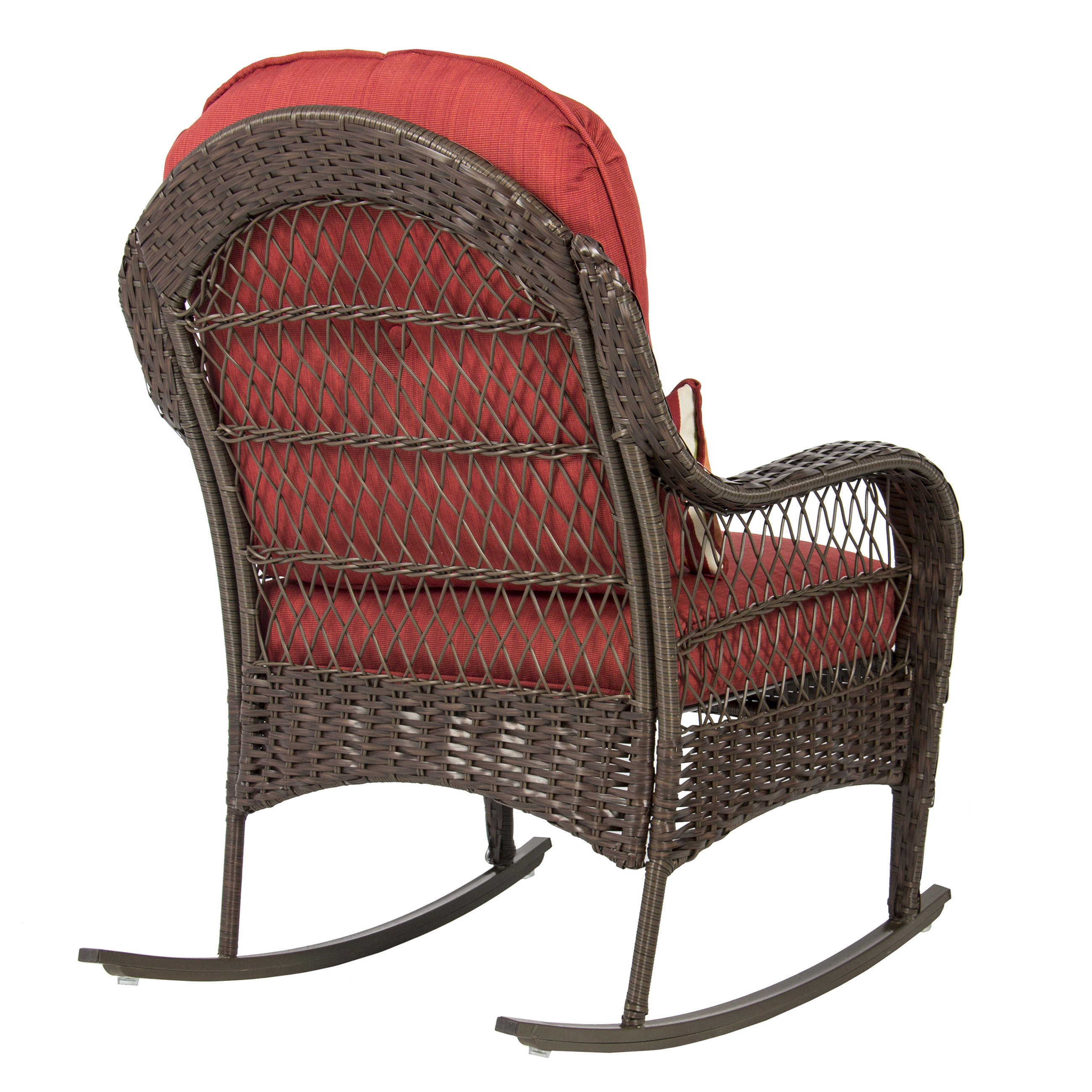 Best Choice Products Wicker Rocking Chair Patio Porch Deck All