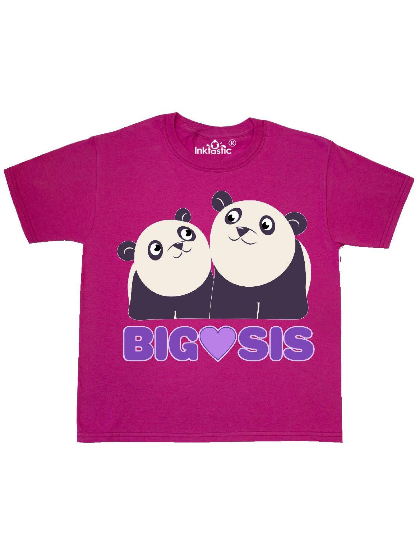 Big Sis pandas Youth T-Shirt