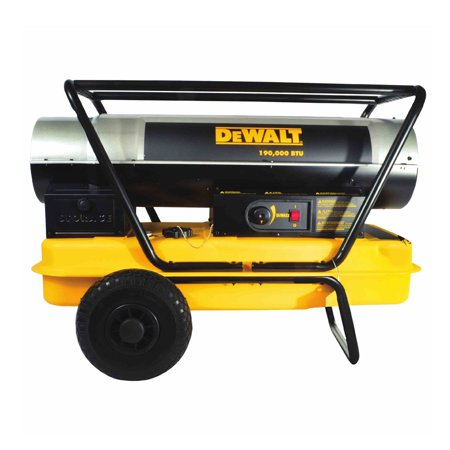 Dewalt Heavy Duty 190000 BTU Forced Air Kerosene Portable Work Job Site Heater (Kerosene Heater Dewalt)