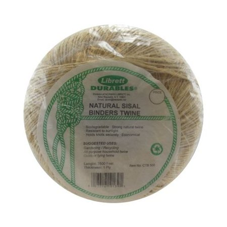 4-1/2 lbs  Biodegradable 1-Ply Sisal Twine (2,500 ft )