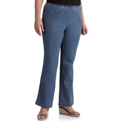 Just My Size Women's Plus-Size 4 Pocket Pull On Boot cut Stretch ...
