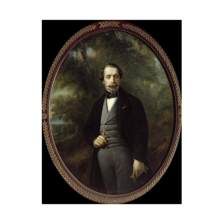 Portrait of Napoleon III by Franz Xaver Winterhalter Print Wall Art