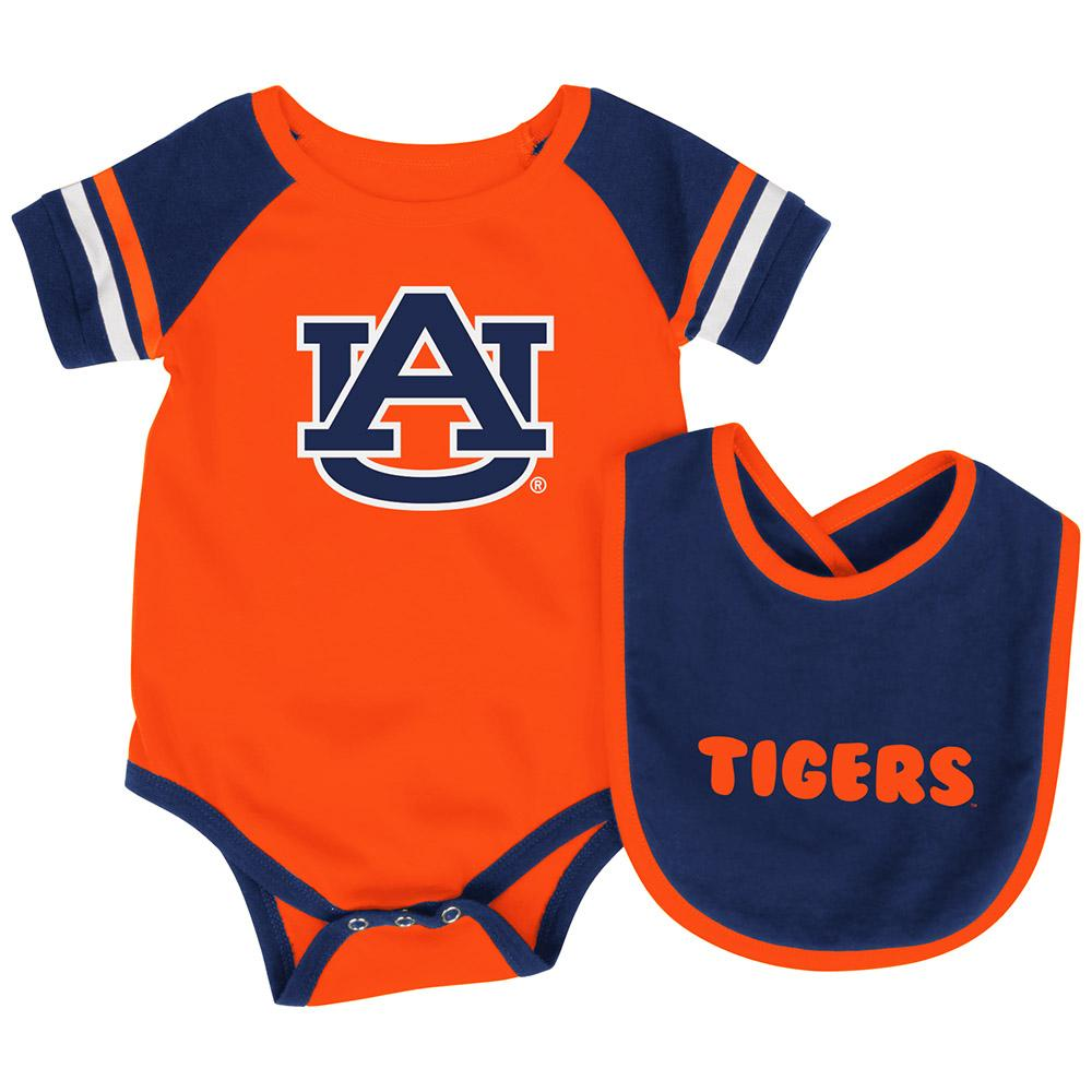 Auburn Baby Roll Out Bodysuit and Bib Set, 6-12 Months by Colosseum