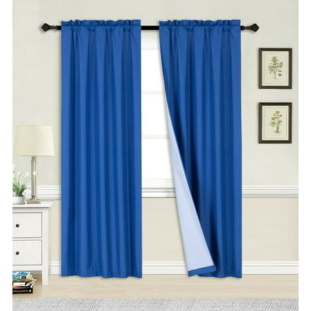 "1 PANEL ROYAL ROD POCKET FOAM LINED THERMAL BLACKOUT WINDOW DRESSING FILTERING CURTAIN R64 SIZE 35"" WIDE X 63"" LENGTH"