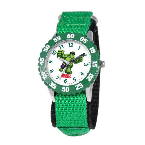 Marvel Kid's Hulk Time Teacher Watch in Green