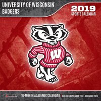 Product Image 2019 12x12 Team Wall Calendar Wisconsin Badgers