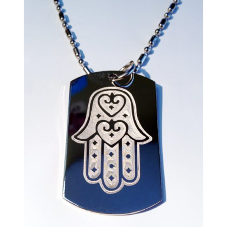 Hand of Mary Mother Jesus Christian Christ Religion Religious Tattoo Logo Symbols - Military Dog Tag Luggage Tag Key Chain Metal Chain Necklace for $<!---->