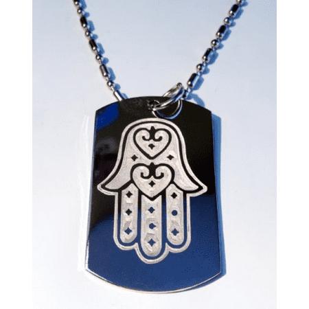 Christian Tatoos (Hand of Mary Mother Jesus Christian Christ Religion Religious Tattoo Logo Symbols - Military Dog Tag Luggage Tag Key Chain Metal Chain)