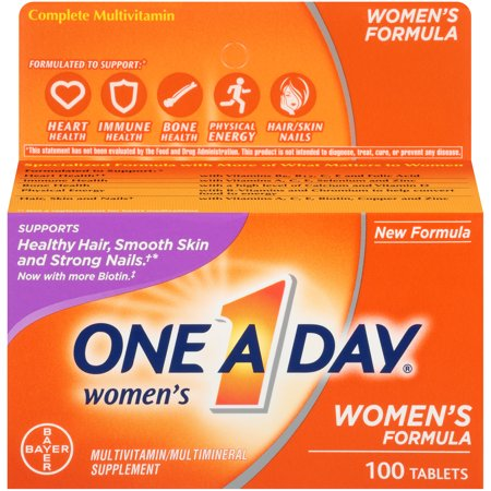 One A Day Women's Multivitamin Supplements with Vitamins A, C, E, B1, B2, B6, B12, Biotin, Calcium and Vitamin D, 100