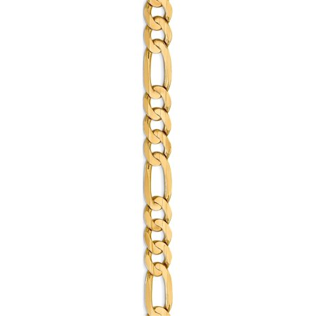 Leslies 10K 7.5mm or jaune Concave cha?ne Figaro - image 2 de 5