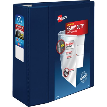 Avery Heavy Duty View Binder W Locking 1 Touch Ezd Rings  5   Cap  Navy Blue