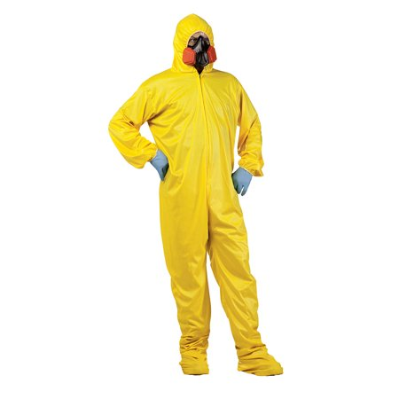 Mens Zombie Infection Outbreak Scientist Hazmat Suit Costume Standard 33-42 (Zombie Costume Cheap)