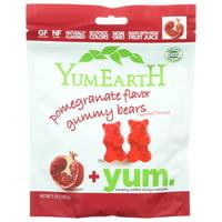 Yumearth Organics, Organic Gummy Bears, Pomegranate, 5 Oz, Pack Of 12