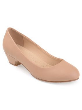 Brinley Co. Women's Classic Faux Leather Comfort-sole Heels