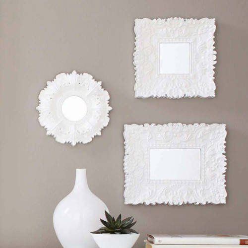 Click here to buy Better Homes and Gardens Baroque Florence Wall Mirrors, Set of 3 by Columbia Frame.