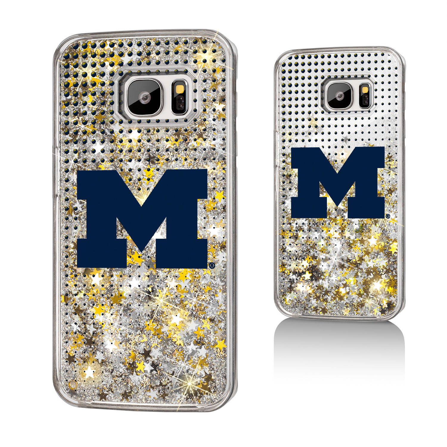 Michigan Wolverines Dots Glitter Case for Galaxy S7