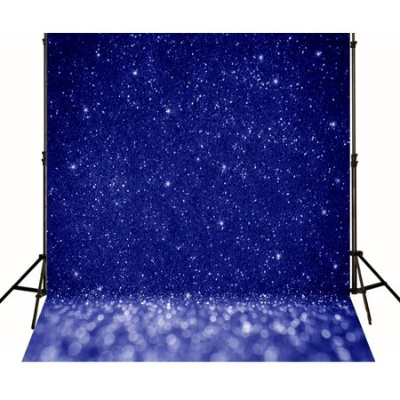 MOHome Polyster 5x7ft Royal Blue Children PHOTO Backdrops for Studio Photographers Shiny Background Photo Booth Props