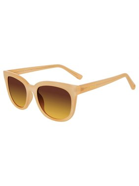 Lucky NEWBBLU55 Gradient Square Sunglasses Clear Orange