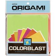"Origami Paper 5.875""X5.875"" 18 Sheets-Colorblast Neon"