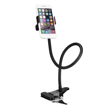 Gooseneck Phone Holder, BESTEK Lazy Bracket Holder 360° Swivel for iPhone and other Smart Phones for Bedroom, Office, Bathroom, Kitchen, Black ()