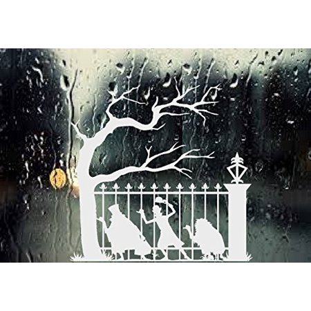 HALLOWEEN DECOR ~ Ghost Halloween (Hitchhiking) #1 ~ Wall or Window Decal (13