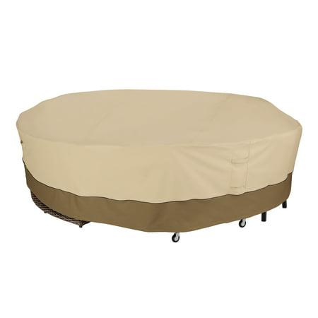 Classic Accessories Veranda™ Round General Purpose Patio Furniture Cover - Water Resistant Outdoor Furniture Cover (56-087-011501-00) Round Furniture Cover