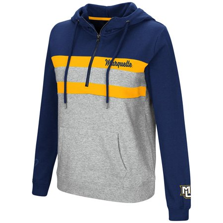 Womens Marquette Golden Eagles Quarter Zip Pull-over Hoodie - S for $<!---->