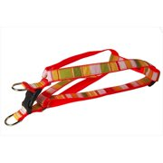 Sassy Dog Wear STRIPE-ORANGE-MULTI4-H Multi Stripe Dog Harness, Orange - Large