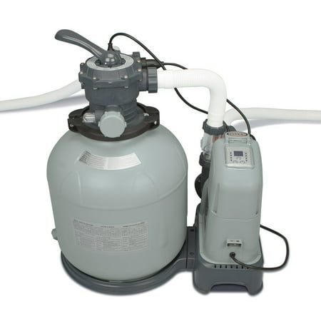 Intex Krystal Clear 2650 GPH Saltwater System & Sand Filter Pump Pool Set Parts Above Ground Saltwater Chlorine Generator