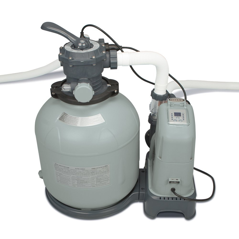 Intex 2650 GPH Saltwater System & Sand Filter Pump Swimming Pool Set | 28679EG