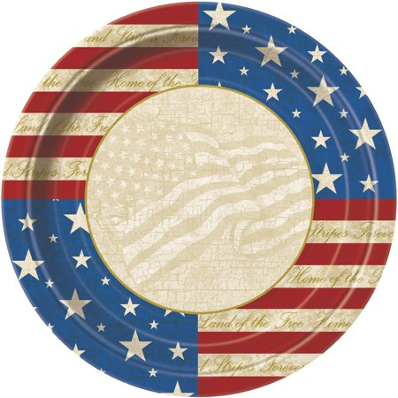 USA Party 4th of July Paper Dinner Plates, 9 in, 8ct - 4th Of July Plates