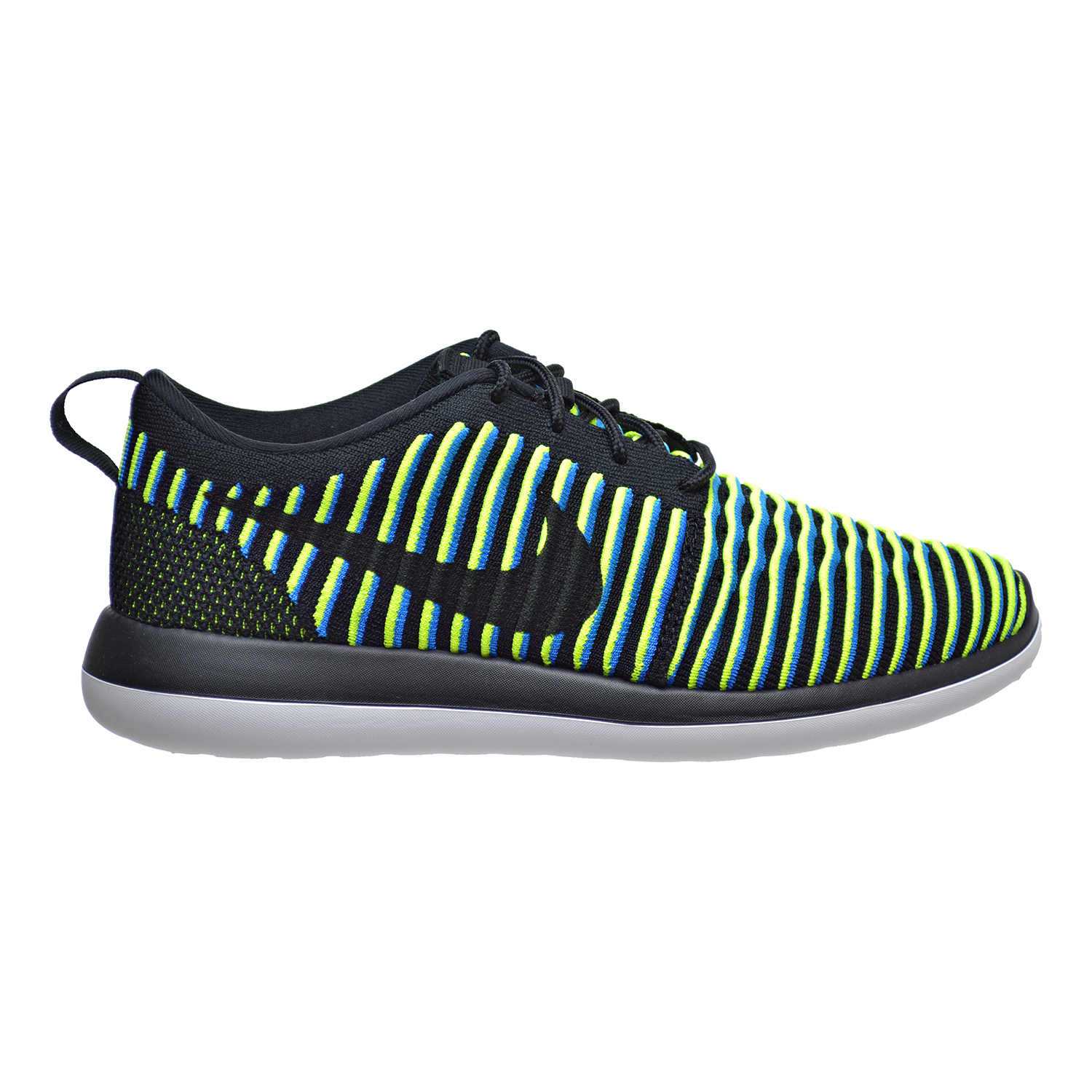 8301a7f8343e ... sweden nike roshe two flyknit womens shoes black photo blue volt 844929  003 7836a 63896
