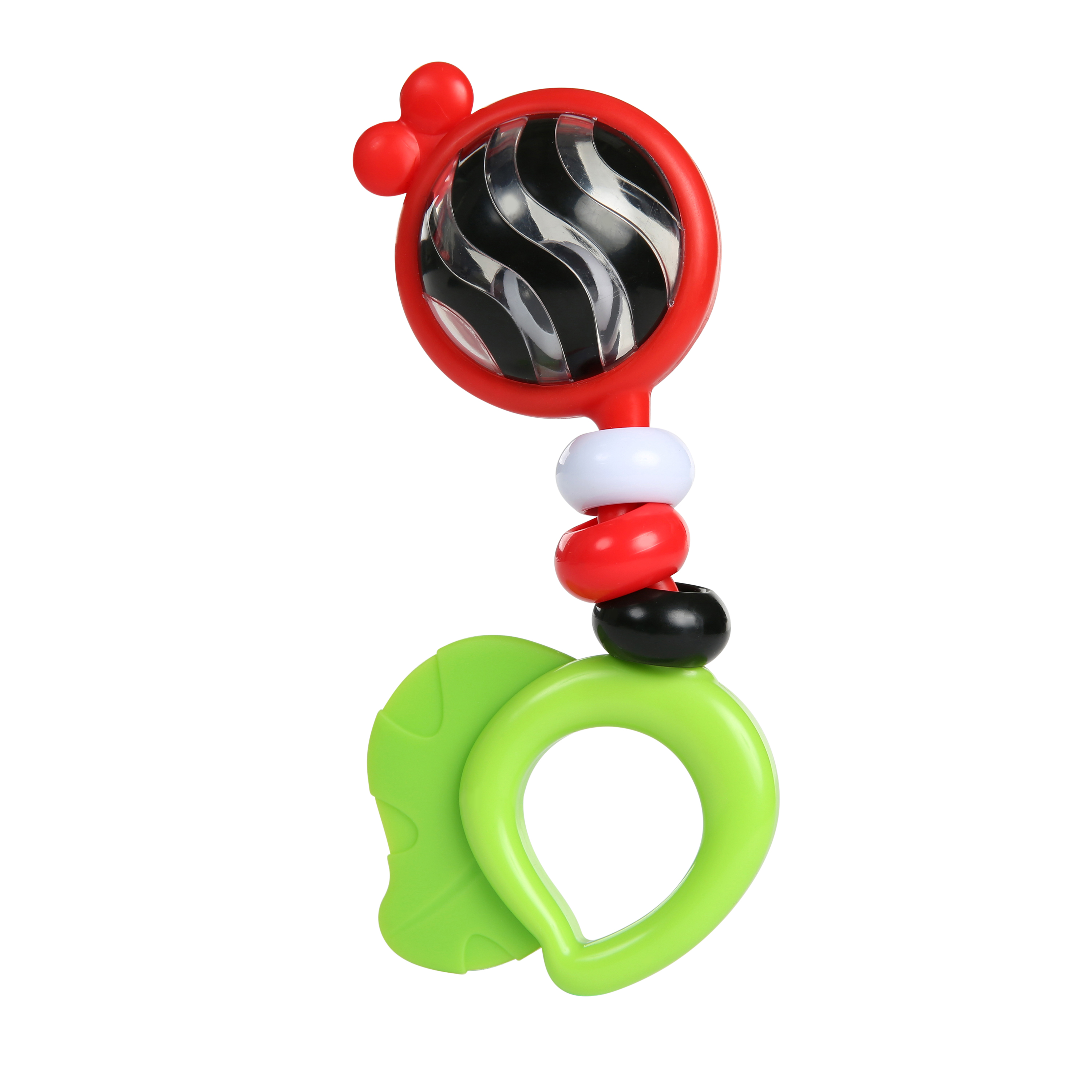 Bright Bold Rattle & Teether High Contrast Toy