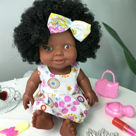 Iuhan Baby Movable Joint African Doll Toy Black Doll Best Gift Toy Christmas