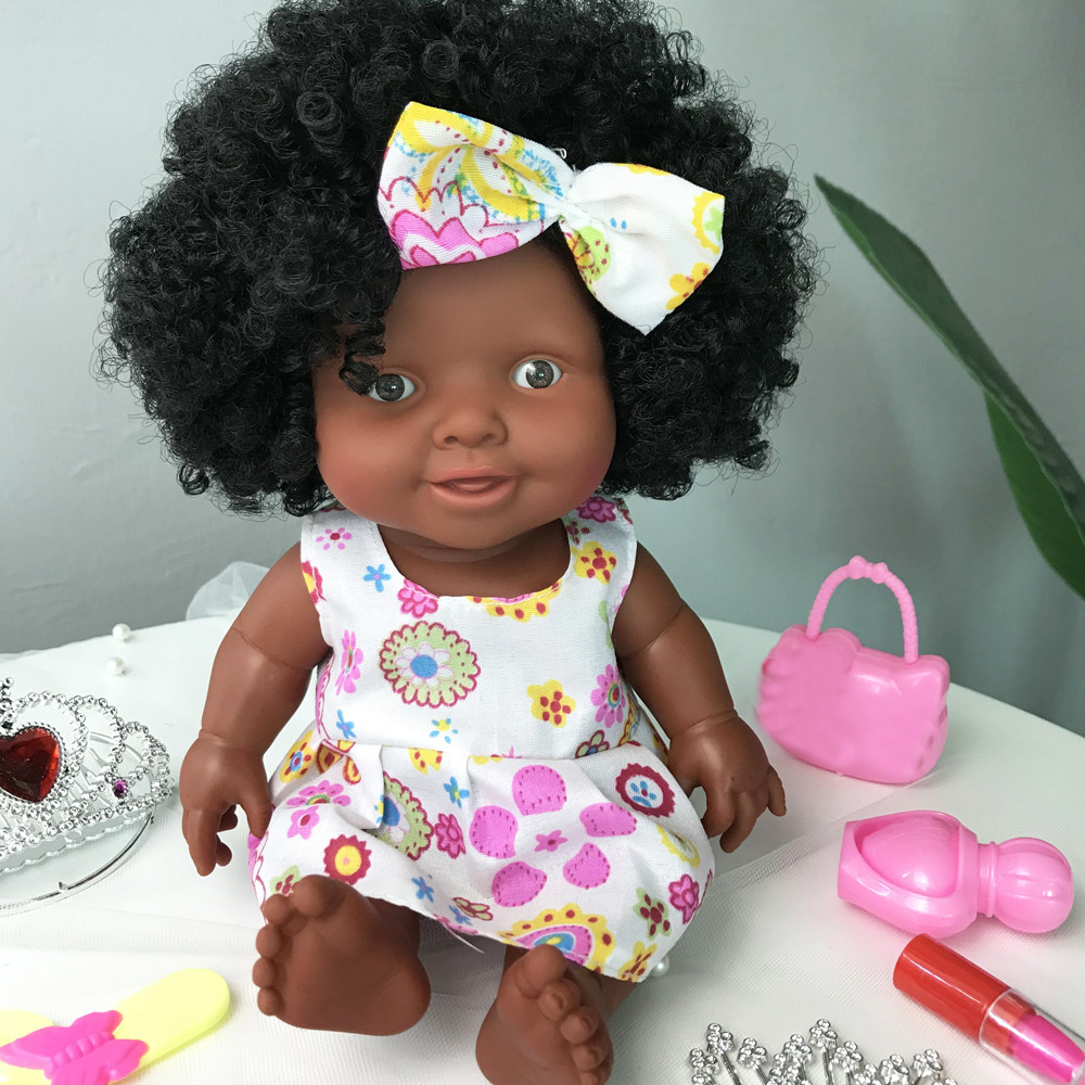 Mosunx Baby Movable Joint African Doll Toy Black Doll Best Gift Toy Christmas Gift