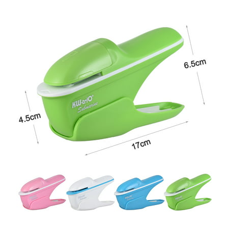 Hand-held Mini Safe Stapler without Staples Staple Free Stapleless 7 Sheets Capacity for Paper Binding Business Commercial Shop School Office ()