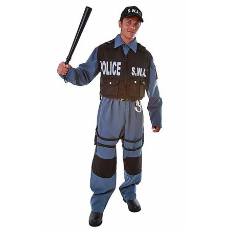 Dress Up America 396-XL Deluxe Adult S.W.A.T. Police Officer - Size X-Large (Officer And A Gentleman Halloween Costume)