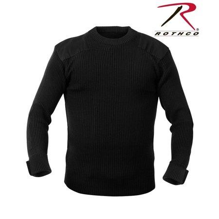 Rothco G.I. Style Acrylic Commando Sweater - Black, 6X-Large - Acrylic Sweaters